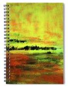 Yellow Sienna Black Spiral Notebook