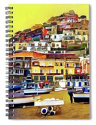 Yellow Sky In Positano Spiral Notebook