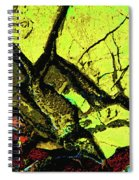 Yellow Sky With Dead Cedar Spiral Notebook
