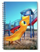 Yellow Slide Spiral Notebook