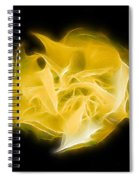 Yellow Solar Plexus Chakra Spiral Notebook