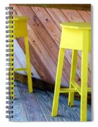 Yellow Stools Spiral Notebook