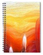 Yellow Sunlight Abstract Art Spiral Notebook