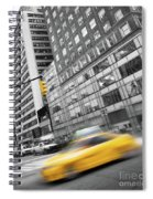 Yellow Taxi Nyc Spiral Notebook