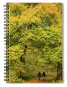 Yellow Trees In Fall Spiral Notebook