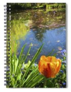 Yellow Tulip In Giverny  Spiral Notebook