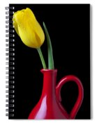 Yellow Tulip In Red Pitcher Spiral Notebook