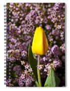 Yellow Tulip In The Garden Spiral Notebook