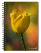 Yellow Tulip Textures Of Spring Spiral Notebook