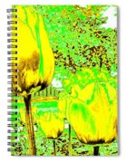 Yellow Tulips Abstract Spiral Notebook