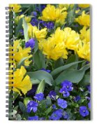 Yellow Tulips And Violets Spiral Notebook