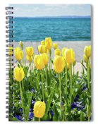 Yellow Tulips Near Lake Spiral Notebook