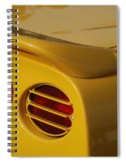 Yellow Vette Lights Spiral Notebook