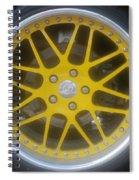 Yellow Vette Wheel Spiral Notebook