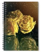 Yellow Vintage Roses  Spiral Notebook