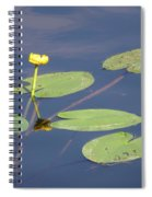 Yellow Water Lily Spiral Notebook