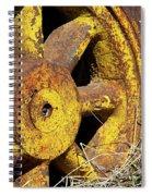 Yellow Wheel Spiral Notebook
