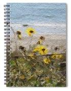 Yellow Wildflowers- Art By Linda Woods Spiral Notebook