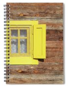 Yellow Window On Wooden Hut Wall Spiral Notebook