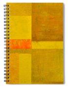 Yellow With Orange Spiral Notebook