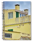 Yellow Worn Out Concrete House Spiral Notebook