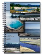Yellowstone Park August Panoramas Collage Spiral Notebook