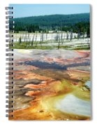 Yellowstone Park Firehole Spring Area Vertical 02 Spiral Notebook