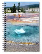 Yellowstone Park Firehole Spring In August 02 Spiral Notebook