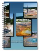 Yellowstone Park Firehole Spring In August Collage Spiral Notebook