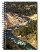 Yellowstone River Canyon Spiral Notebook
