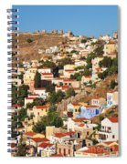 Yialos Town On Symi Island Spiral Notebook