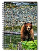 Yikes, It's A Grizzly Spiral Notebook