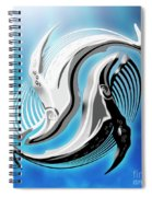 Yin And Yang Whale Spiral Notebook