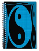 Yin Yang Blue Mosaic Spiral Notebook