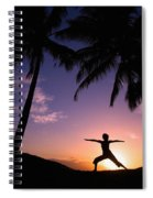 Yoga At Sunset Spiral Notebook