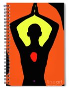 Yoga Lotus Spiral Notebook