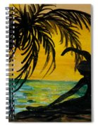 Yoga Seated Side Bend Spiral Notebook