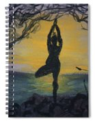 Yoga Tree Pose Spiral Notebook