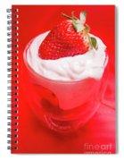 Yoghurt And Berry Dessert Spiral Notebook