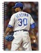 Kansas City Royals, Yordano Ace Ventura,  Painting, Forever Blue Spiral Notebook