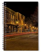 York South Carolina Downtown During Christmas Spiral Notebook