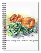 Yorkshire Puddings With Yorkshire Salad Garnish Spiral Notebook
