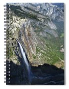 Yosemite Falls And Valley From Eagle Tower Detail - Yosemite Spiral Notebook