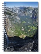 Yosemite Falls And Valley From Eagle Tower - Yosemite Spiral Notebook