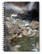 Yosemite Falls Rainbow Spiral Notebook