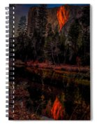Yosemite Firefall 2015 Spiral Notebook