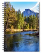 Yosemite Merced River With Half Dome Spiral Notebook