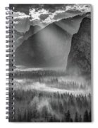 Yosemite Morning Sun Rays Spiral Notebook