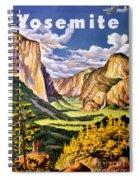 Yosemite National Park Vintage Poster Spiral Notebook