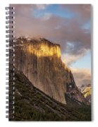 Yosemite Tunnel View Sunset In Winter Spiral Notebook